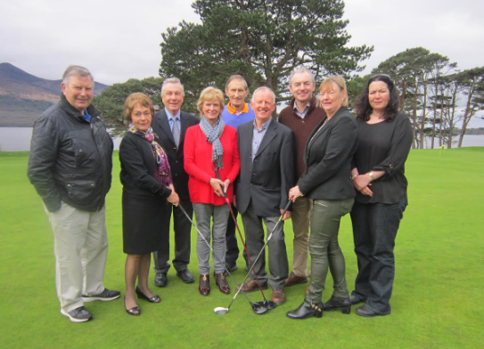 Left to Right: Dick Willis, Angela Brosnan, Frank McGonigle, Clair Bowler, Ted Bowler, Mick Leahy, Liam Twomey, Noreen Buckley and Clara Brosnan